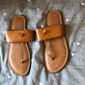 Tan Merona sandals from Target